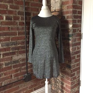 Vintage Unbranded Metallic Black Mini Dress